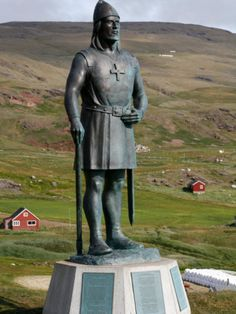 Statue of Leif Eriksson, Son of Erik the Red in Qassiarsuk, South Greenland