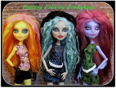 Monster High Doll OOAK Custom Mohair Wigs by Fantasy Dolls by Donna Anne available on Etsy: http://www.etsy.com/shop/fantasydolls
