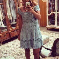 crochelinhasagulhas: Vestido de crochê Vanessa Montoroo