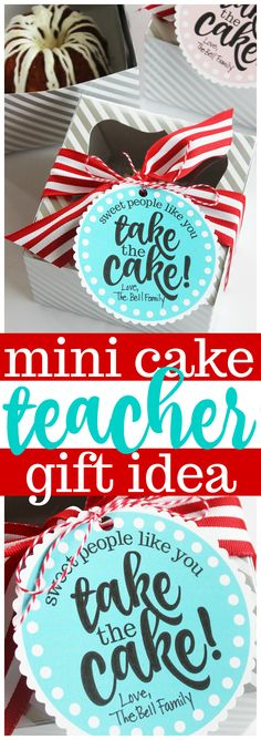 Miniature Cake Teacher Appreciation Gift Idea (Free Printables!)
