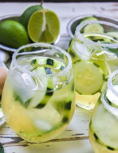 Cucumber & Green Tea Mojito OMG I can't wait to make these!