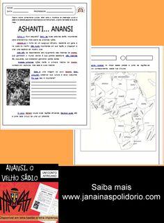 """Este pacote, com 17 páginas, traz atividades sequenciadas referentes ao conto """"Anansi - o velho sábio"""". Saiba mais e veja a AMOSTRA no http://www.janainaspolidorio.com/anansi-o-velho-sabio-um-conto-africano.html"""