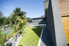 New house by Ramp. Stavanger Norway, Sidewalk, New Homes, House, Home, Side Walkway, Walkway, Homes, Walkways