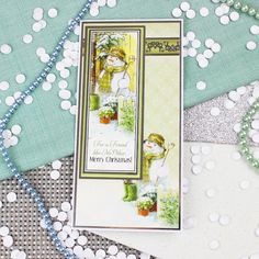 Card created using Hunkydory Crafts' A Friend Like No Other Topper Set from the White Christmas Topper Collection Christmas Scenes, Christmas 2017, White Christmas, Christmas Time, Green Colour Palette, Green Colors, Christmas Topper, Hunkydory Crafts, Classic Theme