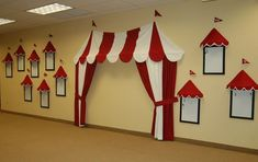 Totally Inspired Monday by Savannah - Classy Clutter For my little boys nursery I am thinking about doing a vintage circus theme. I have seen a few different ways Carnival Tent, Circus Carnival Party, Circus Theme Party, School Carnival, Carnival Birthday Parties, Circus Birthday, Carnival Ideas, Carnival Games, Birthday Games