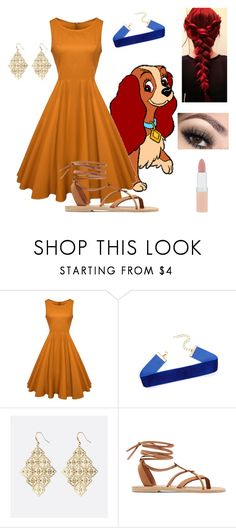 """""""Lady~ lady and the tramp"""" by creepypasta-is-mah-life ❤ liked on Polyvore featuring Avenue, Valia Gabriel and Rimmel"""