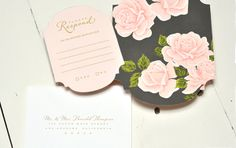Romance Darling invites by Smitten on Paper.
