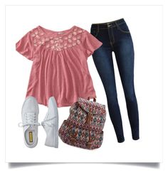 """""""First Day of School!"""" by karolinajane on Polyvore featuring Aéropostale, school, ok and yesstyle"""