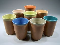 Pick your color pottery tumblers. Awesome for entertaining | CustomMade