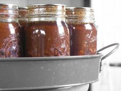 Canned BBQ Beans -- Just soak dried beans and mix with the ingredients.  They cook while being processed in the jars.  Brilliant!