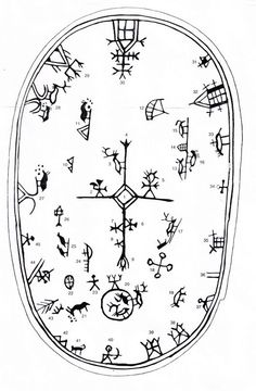 Shaman´s drum symbols in Scandinavia Drum Drawing, Lappland, Asatru, Thinking Day, Norse Mythology, Art Plastique, Tribal Art, Ancient Art, Rock Art