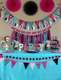 Monster High Birthday Party Ideas | Photo 1 of 48 | Catch My Party