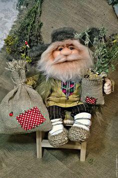 Купить домовой - кремовый, домовой, оберег для семьи, подарок на любой случай, интерьерная кукла, капрон