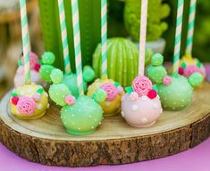 The sweetest cakepops in soft pastels 🤗💛🌸 Fiesta Cake, Fiesta Party, Mexican Birthday, Mexican Party, Cakepops, Pretty Cakes, Cute Cakes, Cactus Cake, Llama Birthday