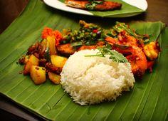 Traditional Banana Leaf Rice