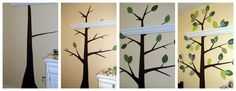 Lady Create-a-lot: Easy Abstract Tree Mural