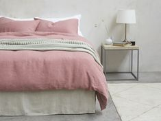 Our Lazy Linen does exactly what it says on the tin. Its stylishly crushed good looks give your bedroom a laid-back feel without any ironing. Bed Linen Sets, Duvet Sets, Classic Bedding, Double Duvet Set, Organic Cotton Sheets, Stylish Beds, Buy Bed, Comfortable Sofa, Cool Beds