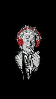 Albert Einstein Digital Art Mobile Wallpaper – iWall a Wallpaper Bank Black Phone Wallpaper, Smile Wallpaper, Dark Wallpaper, Galaxy Wallpaper, Wallpaper Backgrounds, Stussy Wallpaper, Red And Black Wallpaper, Hipster Wallpaper, Music Wallpaper