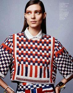 Kati Nescher photographed by Josh Olins, 'Style Academy', Vogue China April 2014 (Spring Vogue China, Knitwear Fashion, Knit Fashion, Fashion Prints, Fashion Design, Fashion Photo, China Mode, Moda Crochet, Thing 1