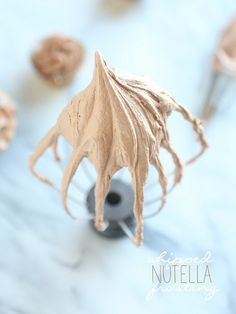 Whipped Nutella Frosting...creamy dreamy and delicious.