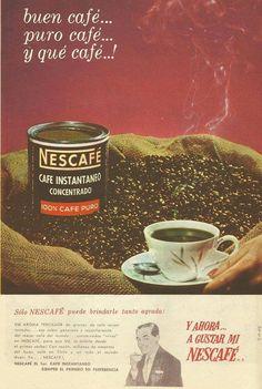 https://flic.kr/p/ypo6h1 | Cartel publicitario de Nescafé, Chile año 1966 | Buen café, puro café... y ¡qué café!
