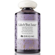 Women's Origins Calm To Your Senses Lavender And Vanilla Oil For Bath... found on Polyvore featuring beauty products, bath & body products, body moisturizers and no color