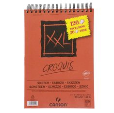 sketching paper pad, Is spiral bound on the short edge. Fine grain paper that erases cleanly. Sheets are microperforated so you can remove your work with ease. 120 sheets in Paper Manufacturers, Sketching, A4, Spiral, Canvas, Sketch, Sketches, Tela, Canvases