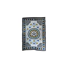 """Measuring at 72"""" x 108"""", this Flower Pentacle Tapestry presents a complex weave of green, yellow and blue flowers mingling with Celtic knots. wicca wiccan pagan paganism witch witchy   #PlentifulEarth"""