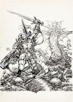 Original Comic Art:Covers, Barry Windsor-Smith StormWatch Unpublished Cover OriginalArt (Image, 1993).... Image #1
