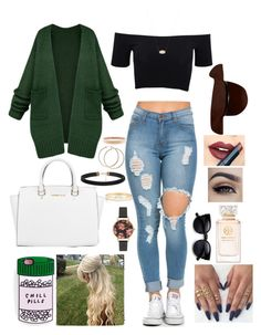 """Loving the Casual look"" by fashion21diva ❤ liked on Polyvore featuring American Apparel, Michael Kors, Tory Burch, Kendra Scott, Olivia Burton, Kate Spade, Chanel and Fiebiger"