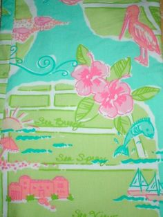 Lilly Pulitzer Print--who can name it? This Pelican Girl is stumped! We do LOVE the pink pelican in the corner!
