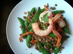 Gluten Free Shrimp and Lentil Stirfry