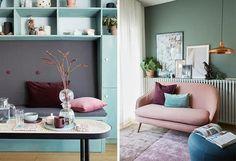 Før og etter: Nytt favorittrom til gjester og lek | Boligpluss.no Hanging Canvas, Diy Sofa, Artist Canvas, Art Pieces, Gallery Wall, Minimalist, Layout, Couch, Prints