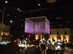 Beaded Chandeliers at the Palm Event Center - Fantasy Sound Event Services