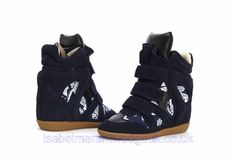 Isabel Marant The Bekett Printed Canvas And Suede