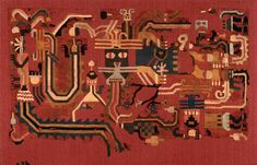 Fragmento de Manto Paracas (1400-400 BC), Ica — Perú