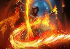 Fire mage art - Поиск в Google