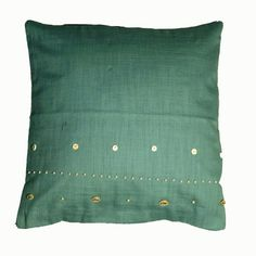 Hand Beaded Scatter Cushion made with designs hand stitched on Likoma Island, Lake Malawi Scatter Cushions, Throw Pillows, Living Room Accessories, Home Living Room, Cushion Covers, Aqua Blue, Hand Stitching, African, Island