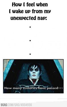 how i feel after a nap...Johnny Depp