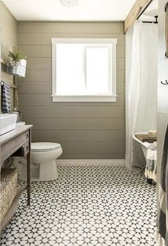 Looking for a small bathroom remodel ideas? Don't worry, we show some of our favorite small bathroom remodel ideas that really work. Get ready to have a small bathroom that looks twice bigger than its original size with Woodoes team! Bathroom Floor Tiles, Bathroom Renos, Master Bathroom, Bathroom Ideas, White Bathroom, Classic Bathroom, Bathroom Designs, Bathroom Wall, Shower Ideas