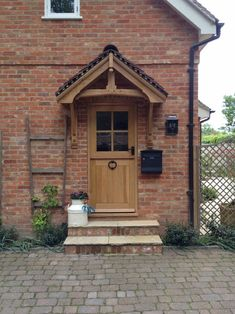 Norton & Son : English Period Style expertly crafted, traditionally made, hand crafted furniture, joinery and porches Cottage Front Doors, Oak Front Door, House Front Porch, Cottage Porch, Door Canopy Kits, Door Canopy Porch, Porch Doors, Porches, Porch Kits