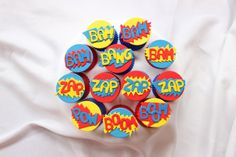 superhero cupcake toppers 12pcs edible fondant by InscribingLives