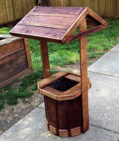 There are many ideas to decorate the garden and one of the best ideas is here, anyone can copy this well planter idea to make it look like there is a small well, which is actually a planter. This idea offers placing plants of different colors for appealing look.