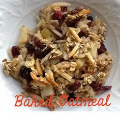 Clean Eating Breakfast Oatmeal Bake