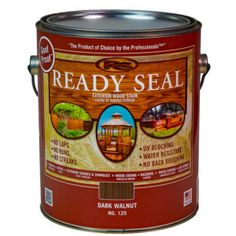 Ready Seal | Paint Supply Semi Transparent Stain, Exterior Wood Stain, Paint Supplies, Dark Walnut, Biodegradable Products