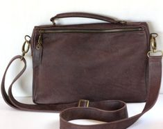 c0c437ce89 This item is unavailable. Brown Leather Messenger BagLeather ...