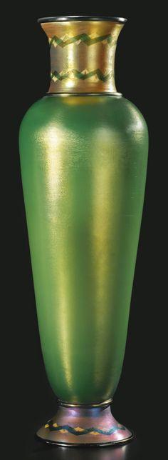** Tiffany Studios, New York, Iridescent Favrile Glass Vase.