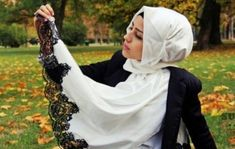 Recently I was at a ladies-only event, but since it was held in a public venue, many of the women remained covered just in case a random man walked in. Arab Women, Muslim Women, Hijabs, Beautiful Hijab Girl, Hijab Trends, Hijab Fashionista, Head Scarf Styles, Lace Maxi, Modest Fashion