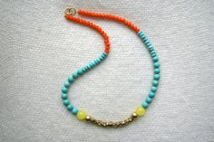 Kiki + Naomi Neon Neon Necklace $35.00