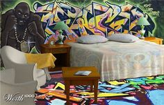 Graffiti inspired interior design 22 #GRAFFITI  #GRAFFITIDECORATING #GRAFFITIINTERIORIDEAS
